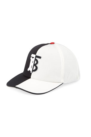 Burberry Men's Bicolor TB Trucker Hat