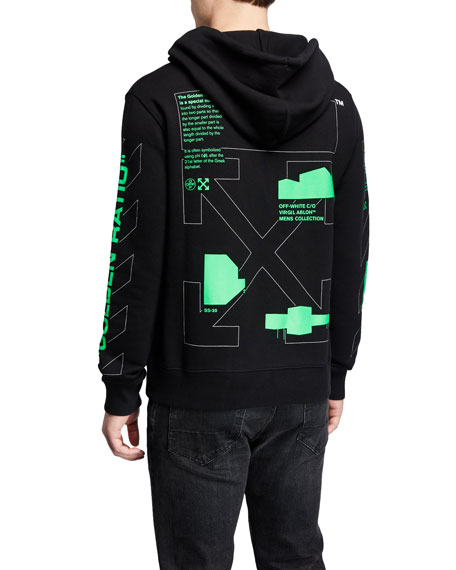 Off-White Men's Arch Shapes Slim Pullover Hoodie