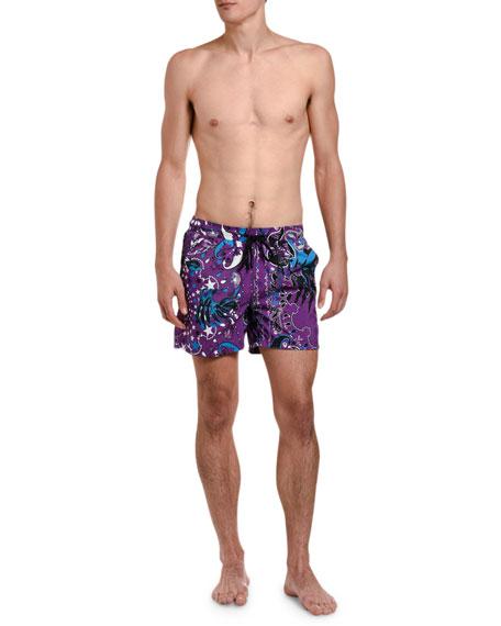 Etro Men's Star-Print Swim Trunks