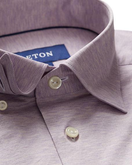 Eton Men's Jersey Point-Collar Sport Shirt