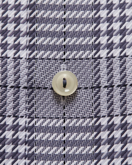Image 3 of 3: Eton Men's Contemporary Textured Houndstooth Dress Shirt