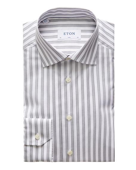 Eton Men's Striped Cotton Dress Shirt