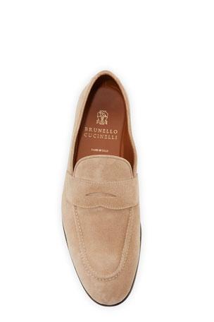 burgundy designer loafers