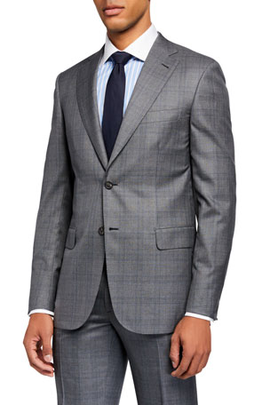 Brioni Men's Prince of Wales Two-Piece Suit