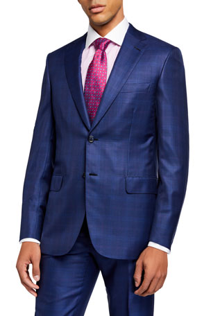 Brioni Men's Plaid Two-Piece Suit