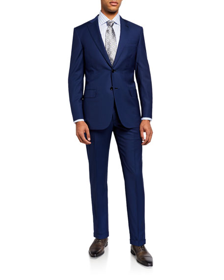 Image 2 of 4: Brioni Men's Pinstriped Two-Piece Suit