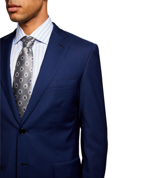 Image 4 of 4: Brioni Men's Pinstriped Two-Piece Suit
