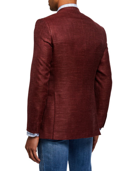 Image 2 of 3: Brioni Men's Textured Two-Button Jacket