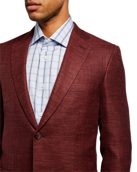 Image 3 of 3: Brioni Men's Textured Two-Button Jacket