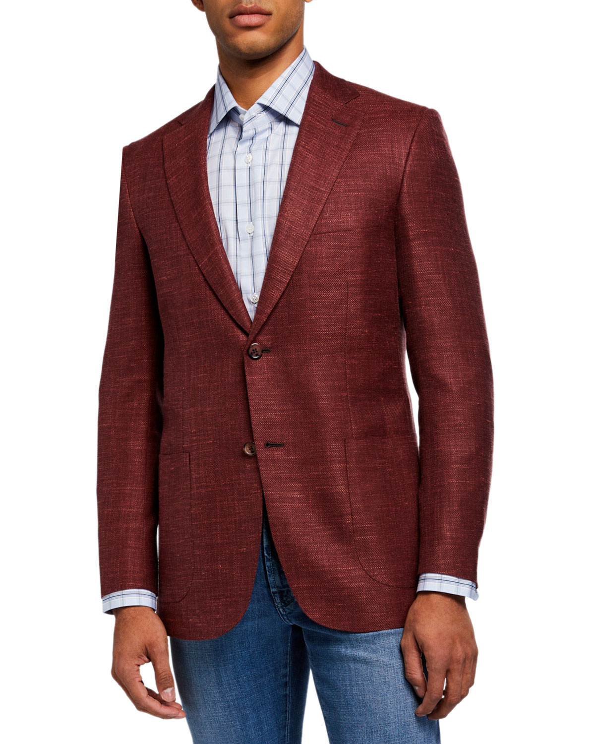 Brioni Men's Textured Two-Button Jacket