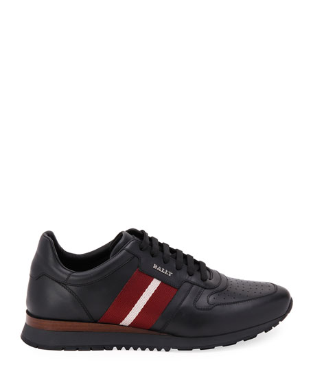 Image 2 of 4: Bally Men's Astel Trainspotting Leather Runner Sneakers