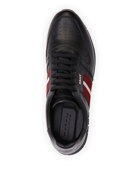 Image 3 of 4: Bally Men's Astel Trainspotting Leather Runner Sneakers