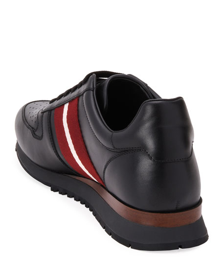 Image 4 of 4: Bally Men's Astel Trainspotting Leather Runner Sneakers