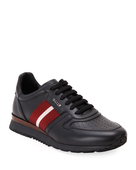 Image 1 of 4: Bally Men's Astel Trainspotting Leather Runner Sneakers