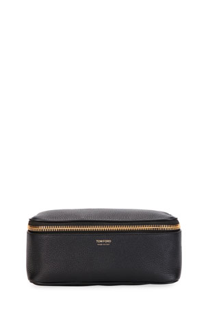TOM FORD Men's Leather Zip-Top Toiletry Case