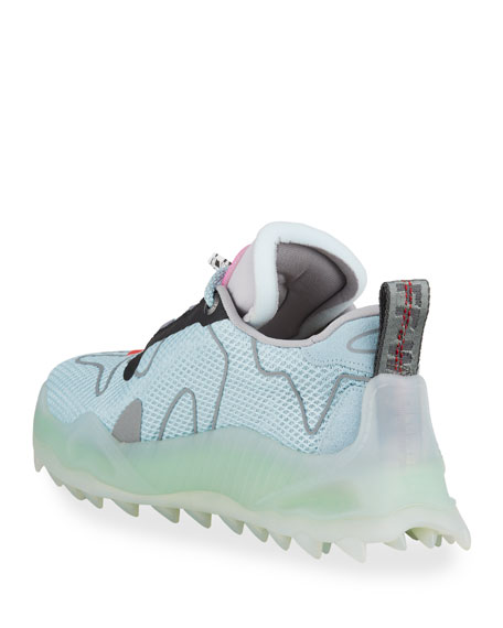 Image 4 of 4: Off-White Men's Odsy Mesh Transparent-Sole Sneakers