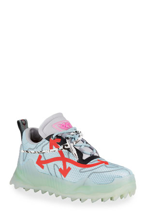 Off-White Men's Odsy Mesh Transparent-Sole Sneakers