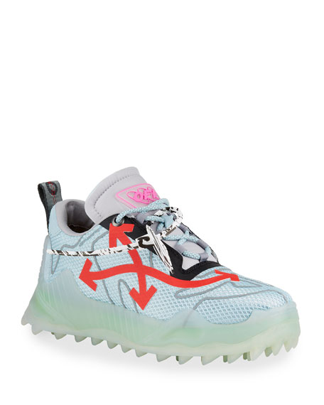 Image 1 of 4: Off-White Men's Odsy Mesh Transparent-Sole Sneakers