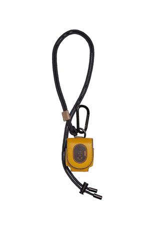 Coach Men's Retro Leather Earbud Case w/ Lanyard