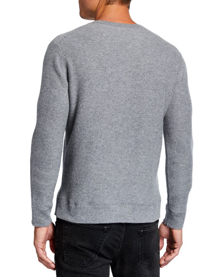 Image 2 of 2: TSE for Neiman Marcus Men's Recycled Cashmere Crewneck Sweater