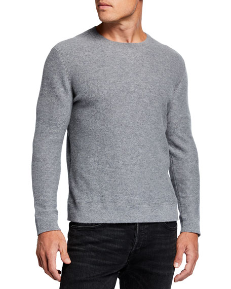 Image 1 of 2: TSE for Neiman Marcus Men's Recycled Cashmere Crewneck Sweater