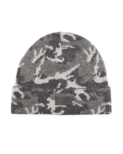 UGG Men's Knit Camo Beanie Hat