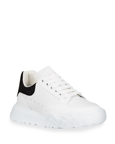 Alexander McQueen Men's Court Mix Leather Chunky Sneakers