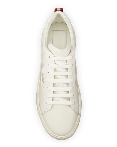 Image 2 of 5: Bally Men's Maxim 7 Striped Leather Low-Top Sneakers