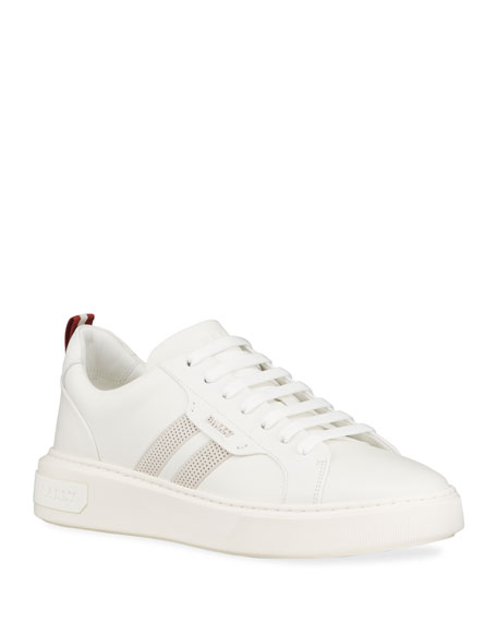 Image 1 of 5: Bally Men's Maxim 7 Striped Leather Low-Top Sneakers