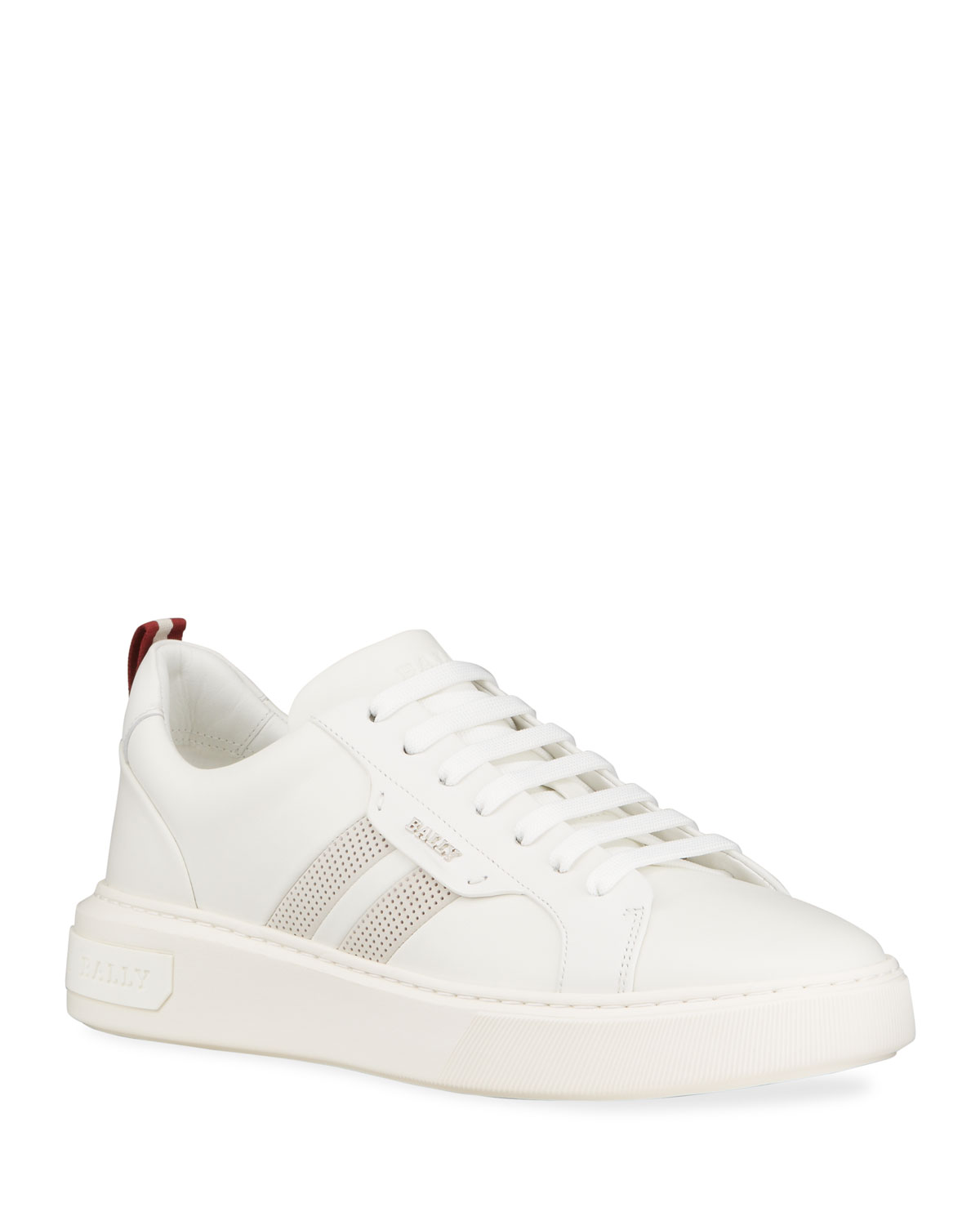 Bally Men's Maxim 7 Striped Leather Low-Top Sneakers