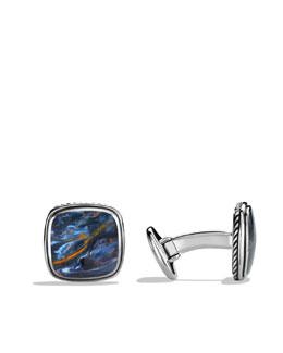 David Yurman Exotic Stone Cuff Links with Pietersite