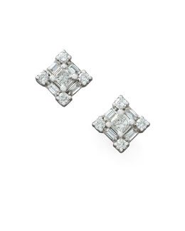 Roberto Coin Diamond Princess Earrings