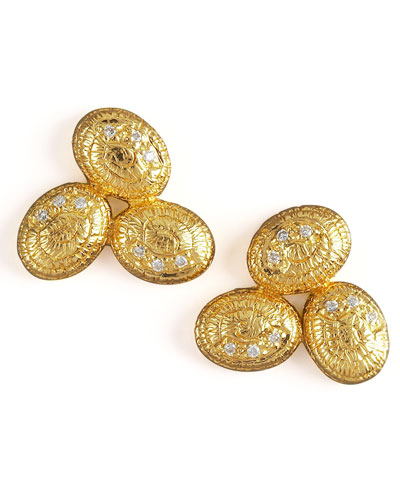 COOMI Gold Cluster Earrings