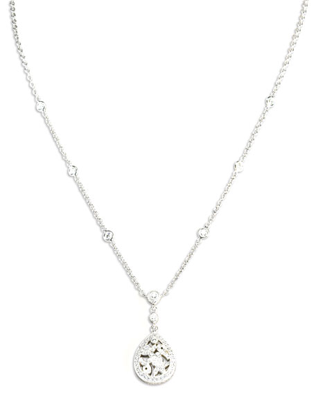 Pear Floral Pendant Necklace