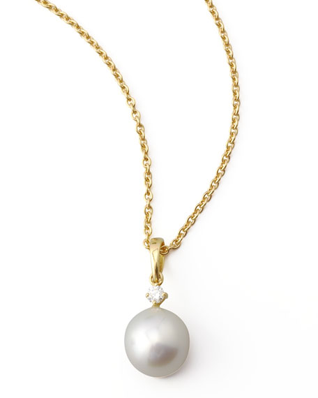 Diamond South Sea Drop Necklace