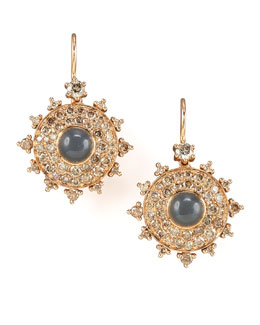 Nam Cho Champagne Diamond Bull's Eye Earrings