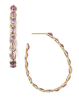Paolo Costagli Sapphire Ombre Earrings, Pink