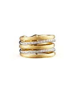Marco Bicego Jaipur Stacked Diamond Ring