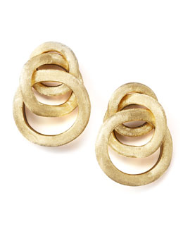 Marco Bicego Textured Gold Link Earrings