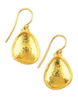 Gurhan Hammered Gold Drop Earrings