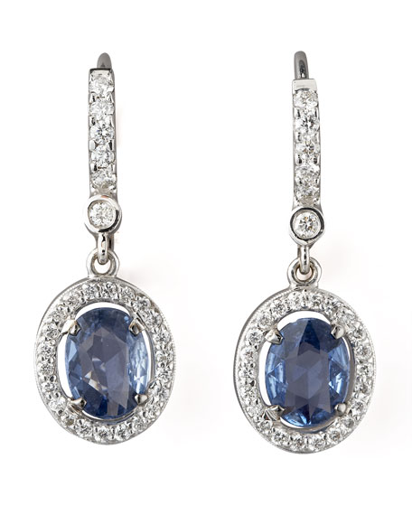 Petite Sapphire & Diamond Earrings