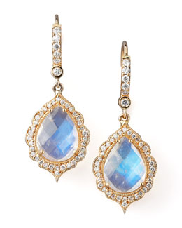 Penny Preville Moonstone & Diamond Drop Earrings
