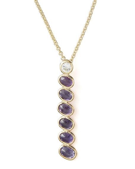 Sapphire Pendant Necklace, Purple