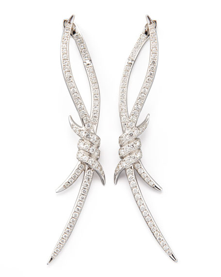 Stephen Webster PAVE BARBED WIRE EARRINGS | Neiman Marcus