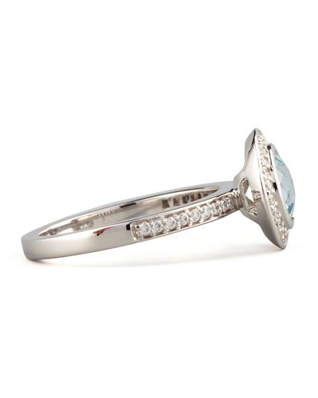 Frederic Sage Mini Aquamarine Diamond Ring