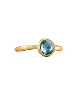 Marco Bicego Small Jaipur Ring, Blue Topaz