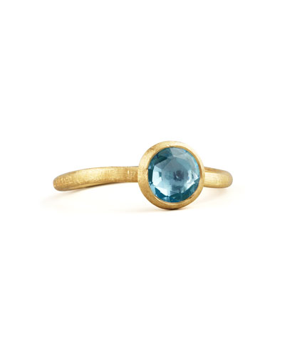 Small Jaipur Ring, Blue Topaz