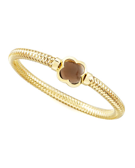 Primavera Smoky Quartz Clover Bangle
