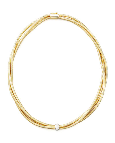 Roberto Coin Primavera Diamond Mesh Necklace