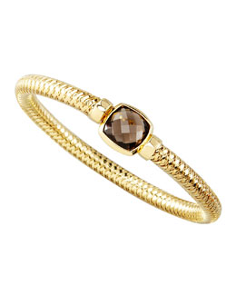 Roberto Coin Primavera Smoky Quartz Clover Bangle